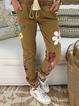 Floral Floral-Print Pants
