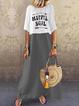 Crew Neck Women Dresses Shift Outdoor Casual Dresses
