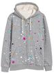 Gray Cotton Long Sleeve Polka Dots Printed Outerwear
