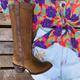 Low Heel Casual All Season Pu Boots