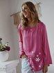 Plus Size Floral Print Irregular Women Blouses