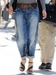 Casual Plain Pockets Women All Season Capri Pants