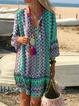 V Neck Women Dresses Date Tribal Dresses