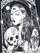 Gothic print  tops