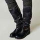 Fashion Women Side Zipper Leather Long Boots