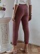 4 colors Plus Size Velvet Lace Up Cotton Casual Solid Sport Pants