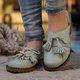 Plus Size Tassel Leather Slip On Flat Loafers