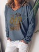Casual Long Sleeve Cotton V Neck Shirts & Tops