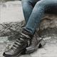 Black Holiday All Season Adjustable Buckle Low Heel Boots
