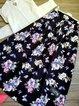 Plus Size Maxi Halfway Shift Floral Vintage Skirts