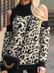 Black Leopard Print Holiday Shirts & Tops