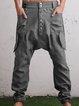 Army Green Casual Pockets Pants