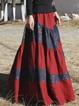 Vintage Cotton-Blend Printed Skirts