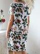 V Neck Women Dresses Shift Daily Floral Dresses