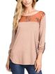 Orange Long Sleeve Cotton Printed Stripes Shirts Tops