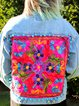 Plus Size Floral Embroidered Bohemian Women Denim Jackets