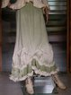 Green Ombre/tie-Dye Paneled Linen Vintage Skirts
