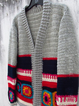 Gray Long Sleeve Knitted Tribal Outerwear
