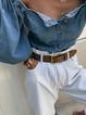 Blue Half Sleeve Off Shoulder Plain Skirts