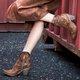 Women Winter Vintage Zipper Ankle Boots