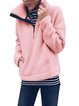 Pink Long Sleeve Paneled Outerwear
