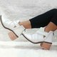 Women Winter Braided Strap Rhinestone Ankle Boots