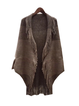 Batwing Paneled Shawl Collar Cotton-Blend Outerwear