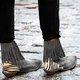 Split Joint Suede Winter Flat Heel Boots
