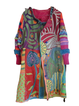 Multicolor Printed Shift Casual Outerwear