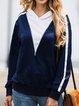 Sport Patchwork Long Sleeve Cotton Hoodies