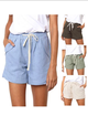 Womens Clothing Solid Pockets Shorts
