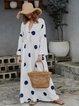 Women Polka Dots Maxi Dresses Shift Daily Boho Printed Dresses