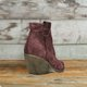 Bohemian mid-heeled pointed booties