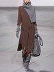Turtleneck Women Light Gray  Solid  Sweather Dresses