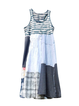 Crew Neck Blue Women Dresses Daytime Casual Paneled Dresses