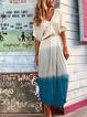V Neck Apricot Women Dresses Daily Cotton-Blend Dresses