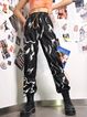 Black Abstract Printed Outdoor Pants