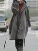 Patchwork  Zipper Long Sleeve Hooded Cotton-Blend Hoodie
