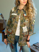 Camouflage Vintage Cotton-Blend Outerwear