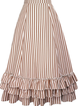 Casual Ruffled Stripes Skirts