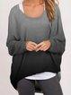 Cotton-Blend Long Sleeve Sweatshirts & Hoodies