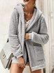 Hoodie Casual Cotton Paneled Coats