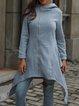 Gray Casual Solid Long Sleeve Hoodie Zipper Pockets Coat