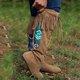 Brown Artificial Leather Winter Tassel Flat Heel Boots