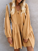 V Neck Women Dresses Shift Daily Boho Cotton-Blend Dresses