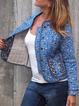 Blue Cotton Tribal Boho Outerwear