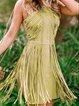 Autumn Tassel Bohemia Style Short Dress