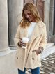 Long Sleeve Shawl Collar Buttoned Coats