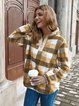 Vintage Stand-Up Neck Long Sleeve Cashmere Sweatshirts