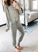 Plus size Long Sleeve Crew Neck Cotton Suits